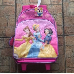 😍.   Princess rolling backpack